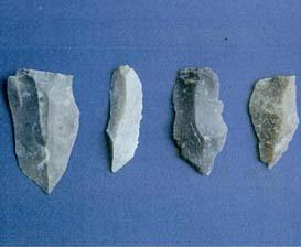 Flakes/alat serpih, sejenis dengan kebudayaan Toale
