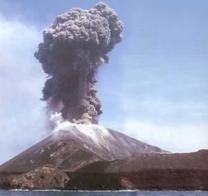 Letusan Krakatau di Selat Sunda