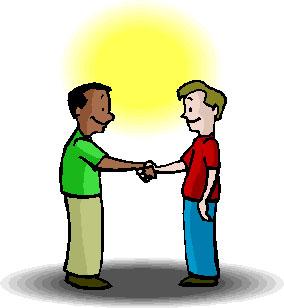 Jabat tangan merupakan wujud terjadinya interaksi sosial