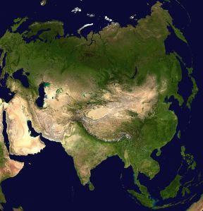 Peta Satelite Asia