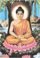 Siddarta bertapa di bawah pohon Bodh Gaya