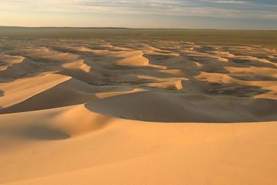 Gurun Gobi, bila malam suhunya mencapai -40 derajat Celcius