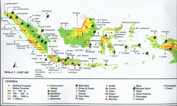 persebaran SDA Indonesia